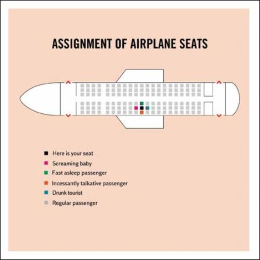 Airplane Seats Truth Facts Greeting Card