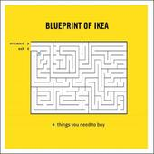 Blueprint Of Ikea Truth Facts Greeting Card