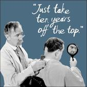 Take Ten Years Off The Top Retro Humour Birthday Card