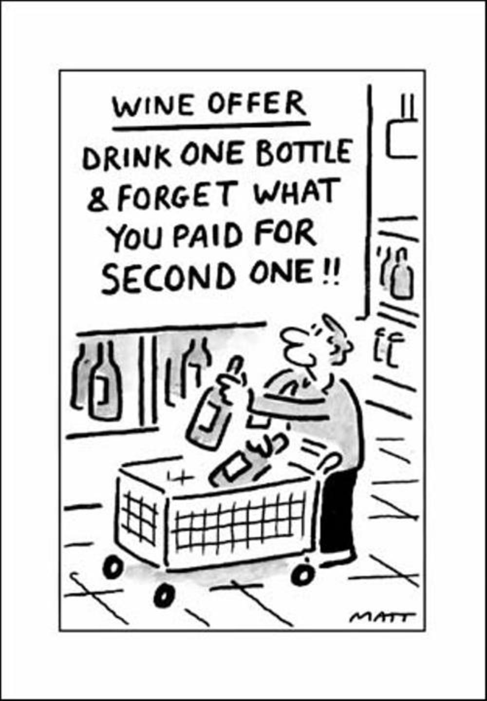 Wine Offer Funny Matt Greeting Card