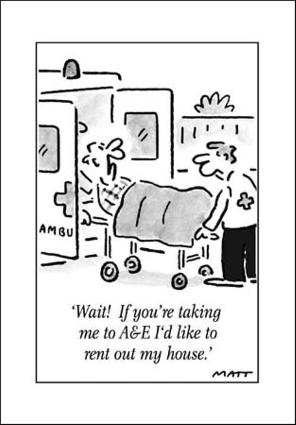 A&E Funny Matt Greeting Card