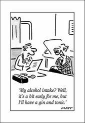 Alcohol Intake Funny Matt Greeting Card