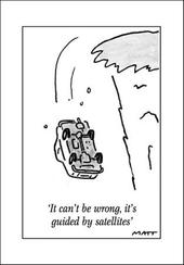 Sat Nav Funny Matt Greeting Card