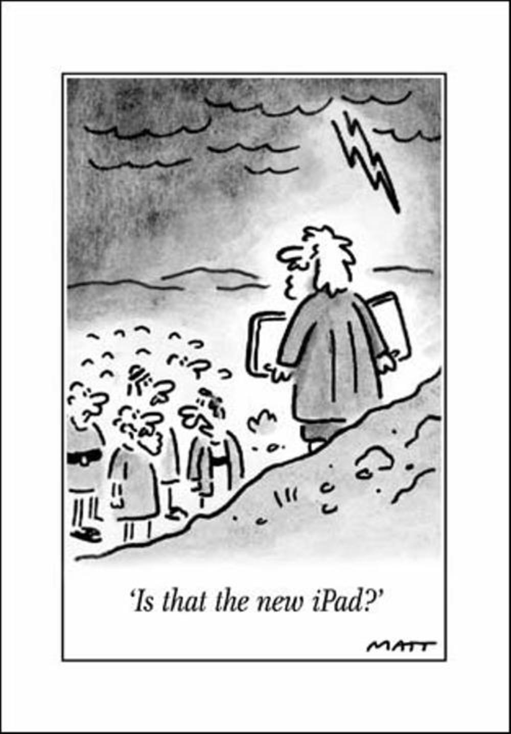 New iPad Funny Matt Greeting Card
