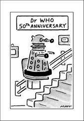 Dr Who Funny Matt Greeting Card
