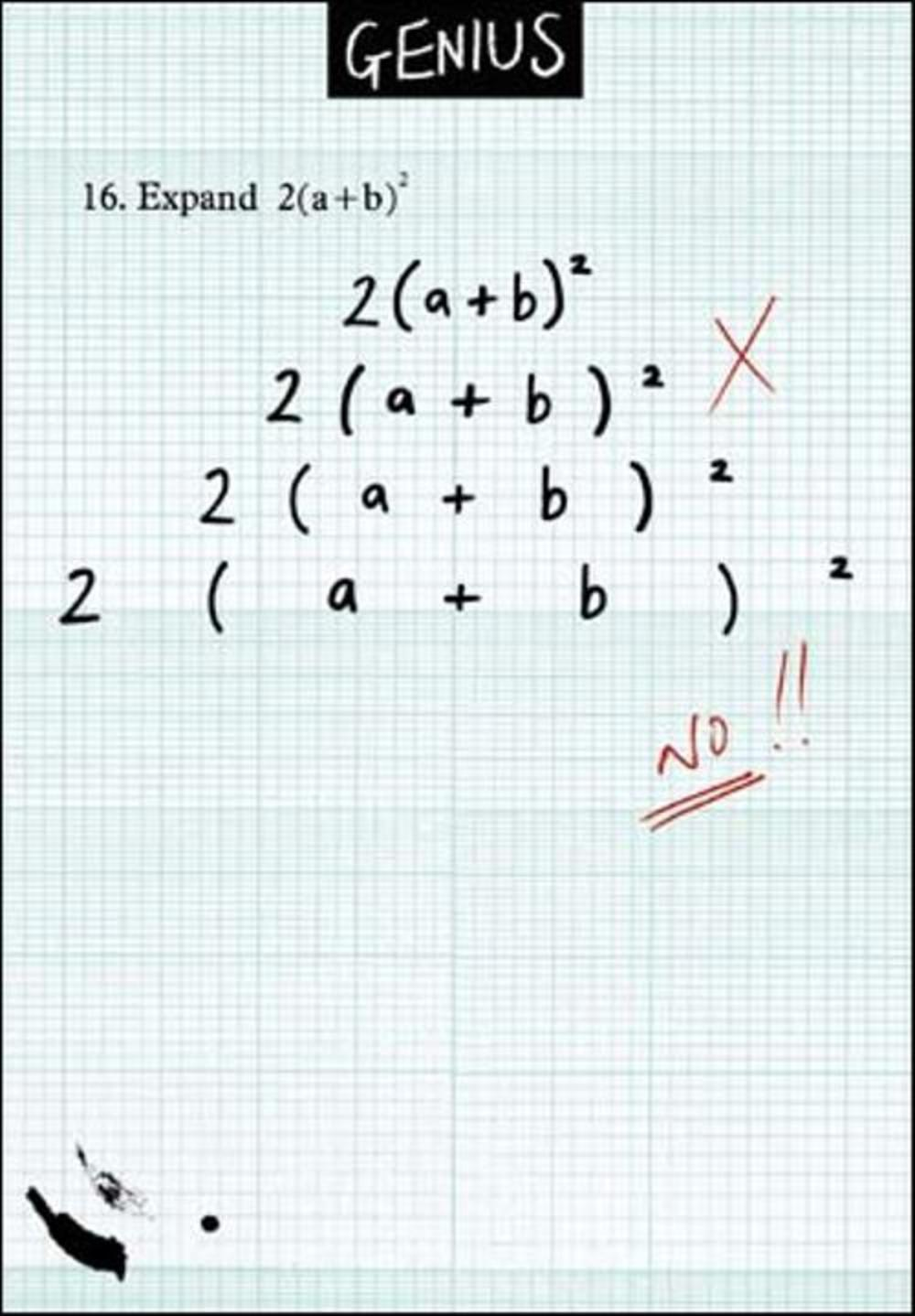 Maths Formula Funny Genius Greeting Card Cards Love Kates