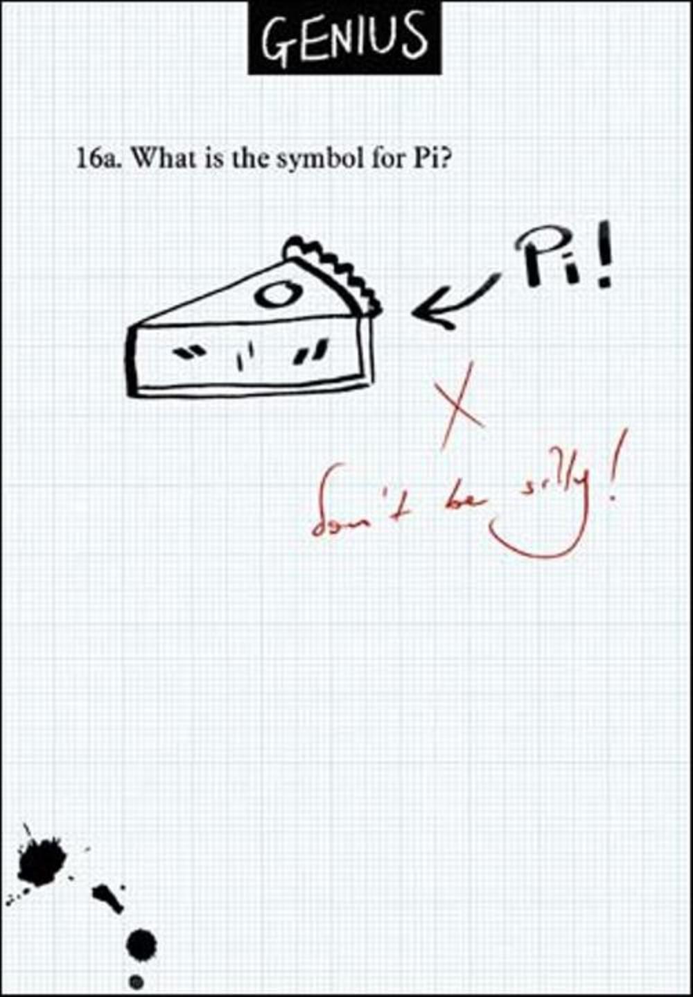Symbol Pi Funny Genius Greeting Card