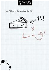 Symbol Pi Funny Genius Greeting Card