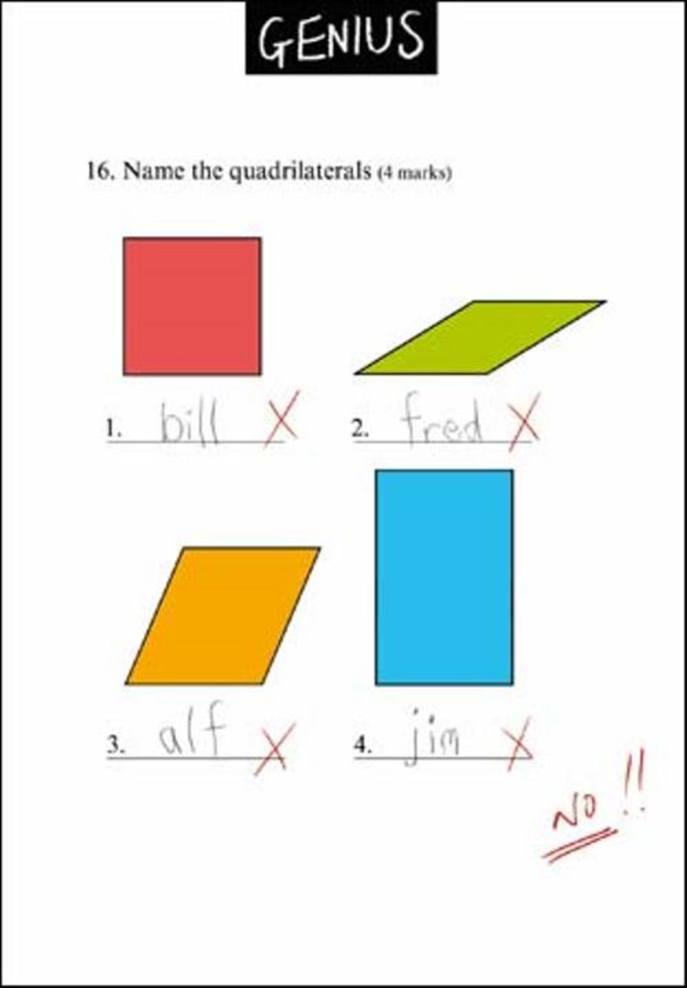 Name Quadrilaterals Funny Genius Greeting Card