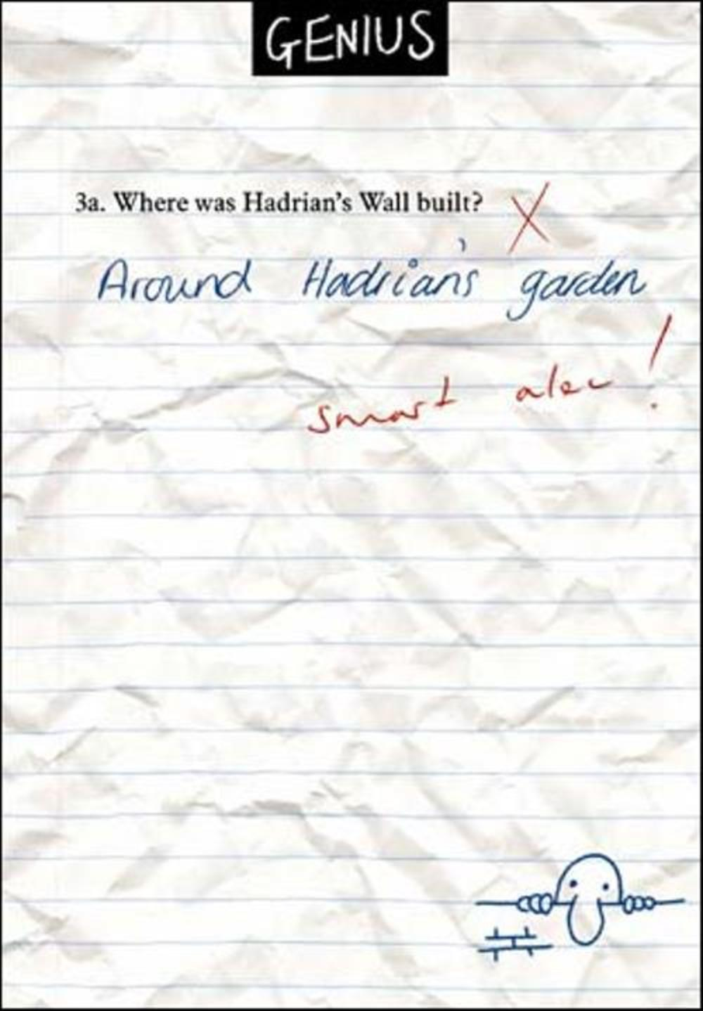 Hadrian's Wall Funny Genius Greeting Card