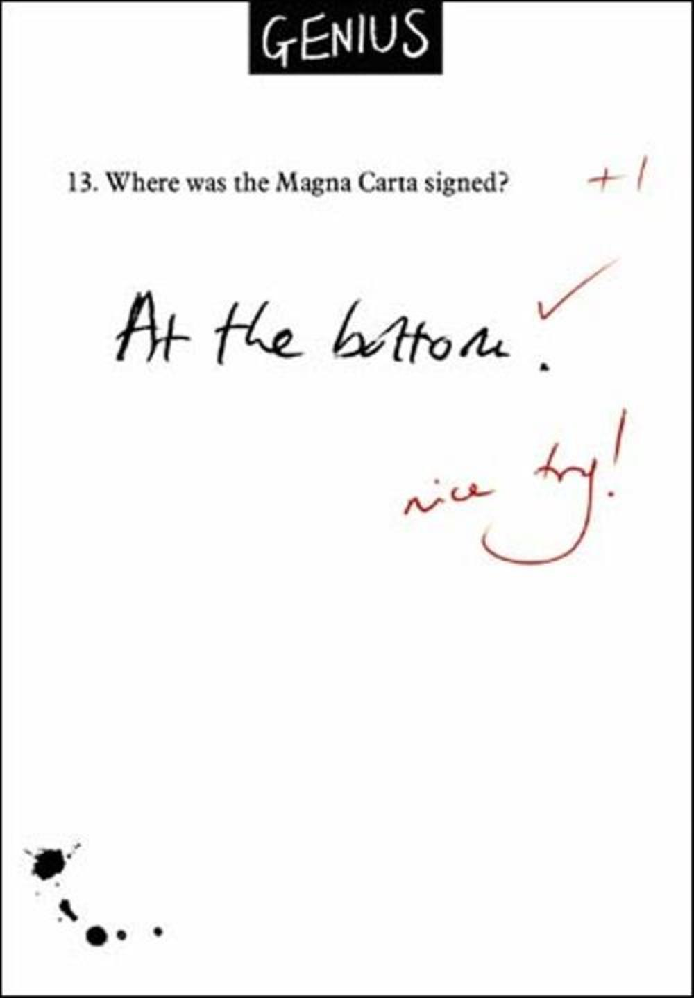 Magna Carta Funny Genius Greeting Card
