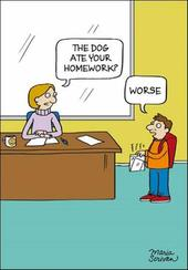Dog Ate Homework? Funny Berger & Wyse Card