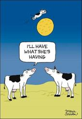 Cow Jumped Over The Moon Funny Berger & Wyse Card