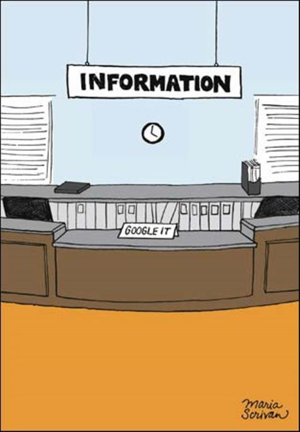 Infomation Desk Google It Funny Berger & Wyse Card