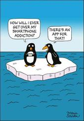App Smartphone Addiction Funny Berger & Wyse Card