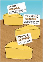Immature Cheddar Funny Berger & Wyse Card