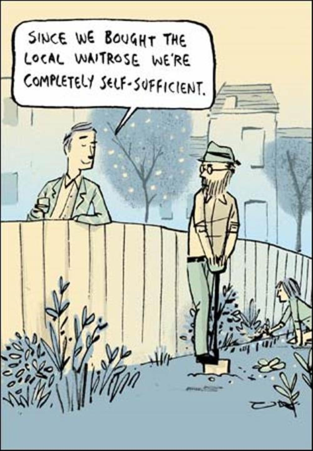 We're Completely Self Sufficient Funny Berger & Wyse Card