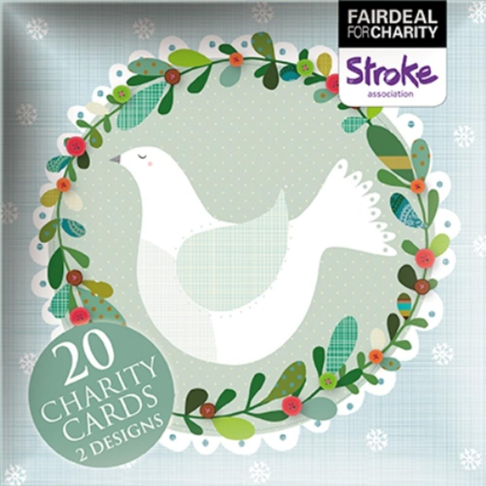 Box of 20 Dove & Partridge Stroke Association Charity Christmas Cards