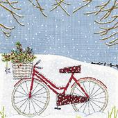 Pack of 8 Mini Bicycle Woodland Trust Charity Christmas Cards