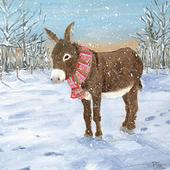 Pack of 8 Mini Little Donkey NSPCC Charity Christmas Cards