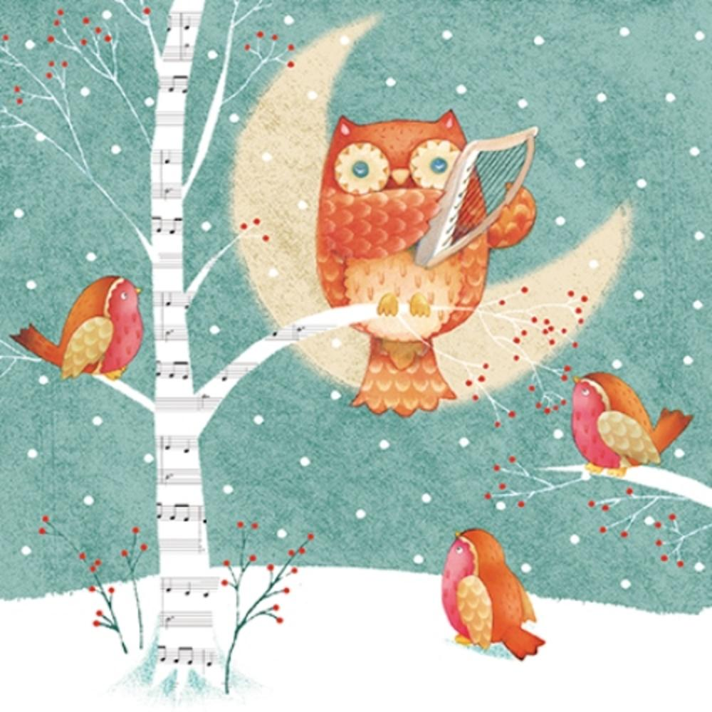 Pack of 8 Owl Multiple Sclerosis Trust Charity Christmas Cards