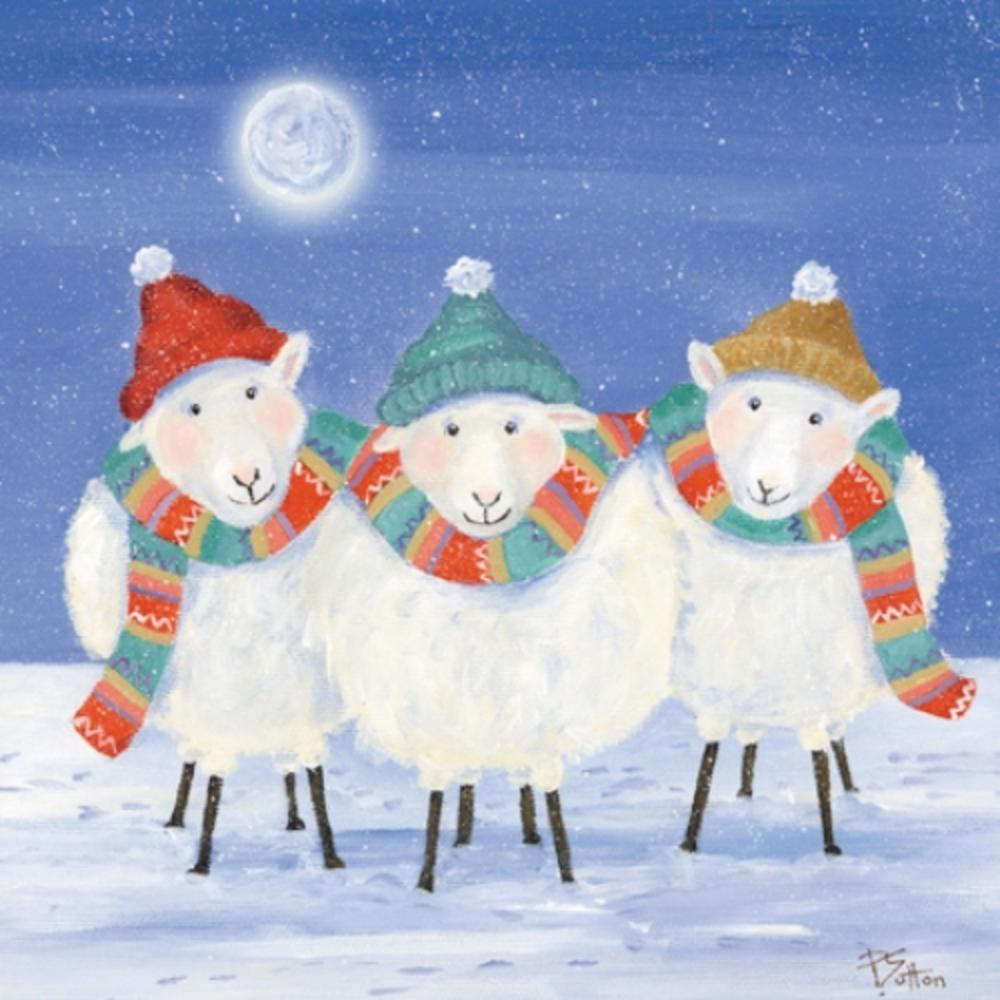 Pack of 8 Warm Woolly Sheep NSPCC Charity Christmas Cards