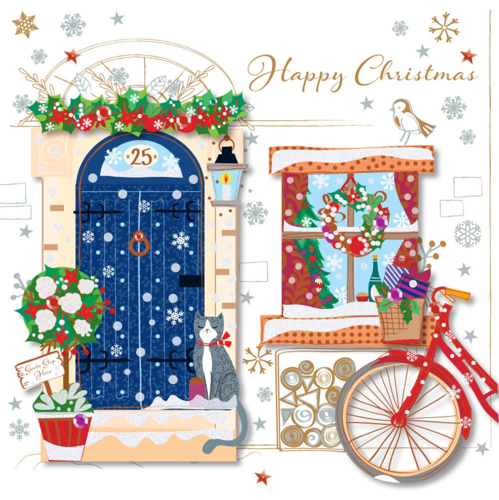 Happy Christmas Pretty Greeting Card