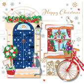 Happy Christmas Pretty Greeting Card