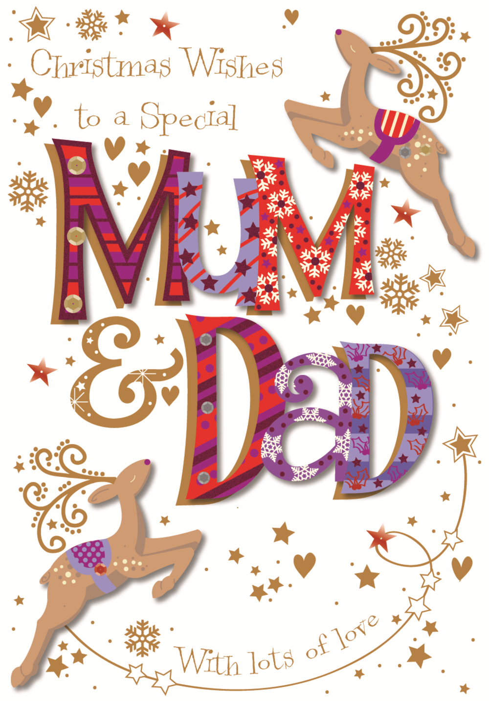 Special Mum & Dad Christmas Greeting Card