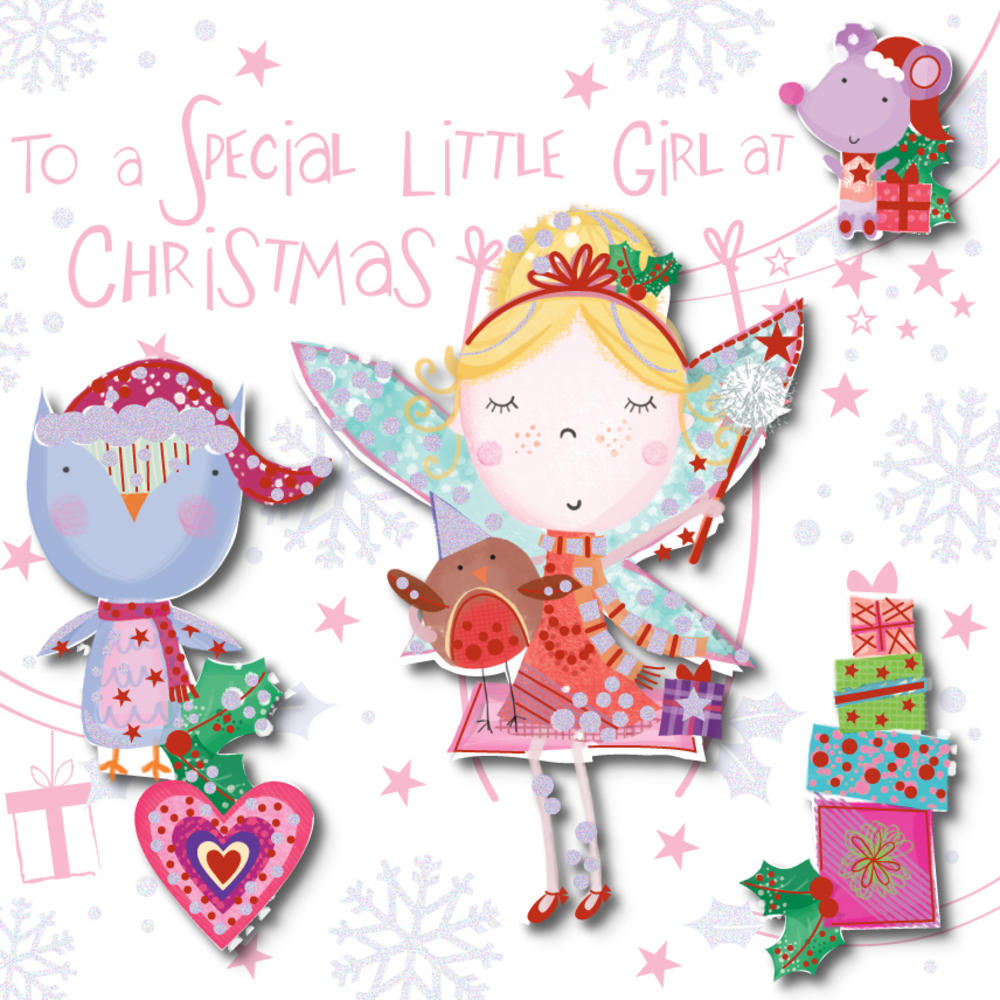Special Little Girl At Chirstmas Greeting Card