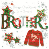 Special Brother Happy Christmas Greeting Card