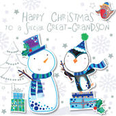 Great-Grandson Happy Christmas Greeting Card