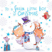 Special Little Boy At Chirstmas Greeting Card
