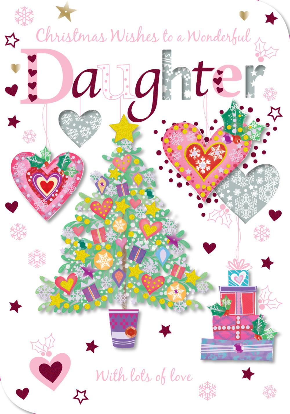 Wonderful Daughter Christmas Greeting Card