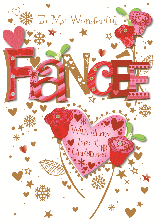 To My Fiancee Christmas Greeting Card