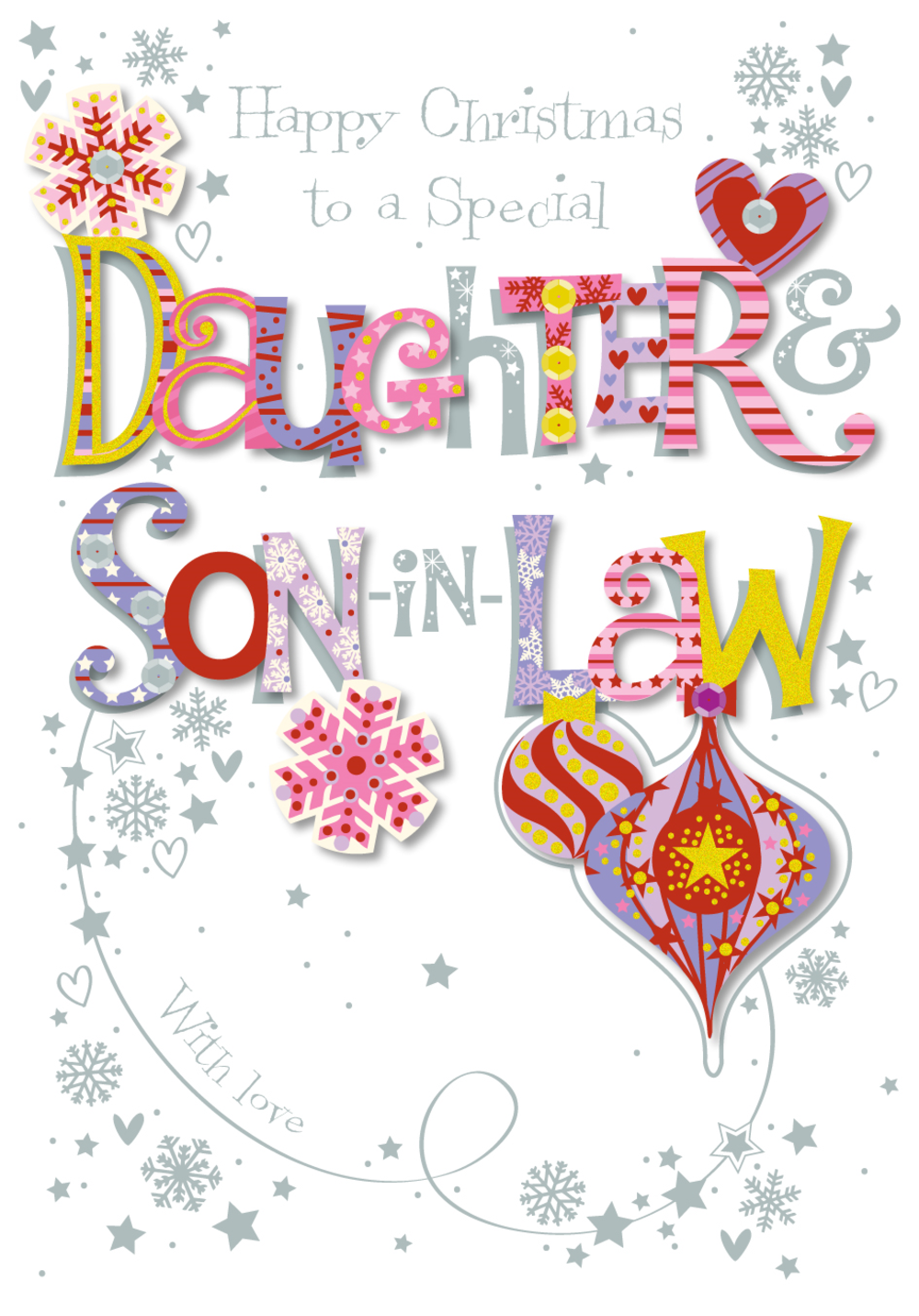 Daughter & Son-In-Law Christmas Greeting Card