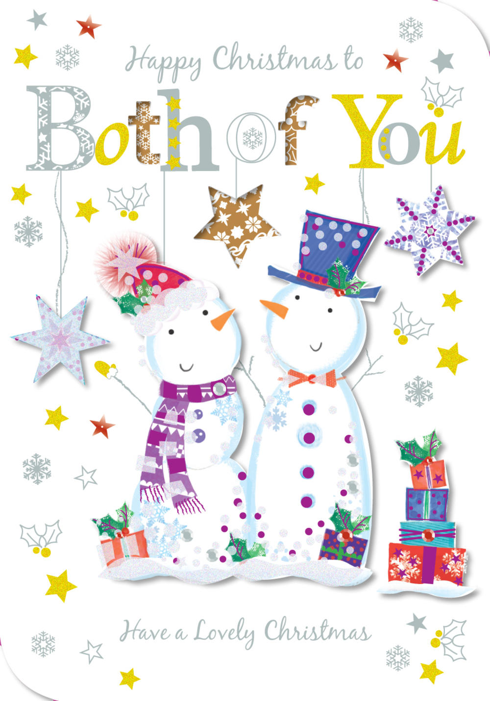Happy Christmas To Both Of You Greeting Card