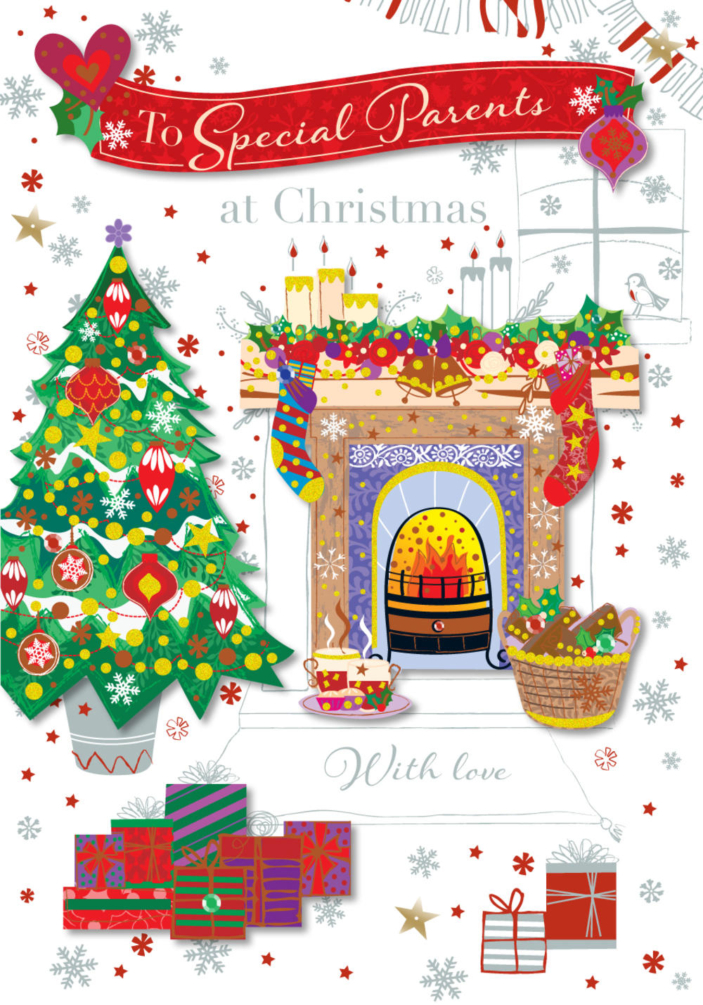 To Special Parents Christmas Greeting Card | Cards