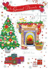 To Special Parents Christmas Greeting Card