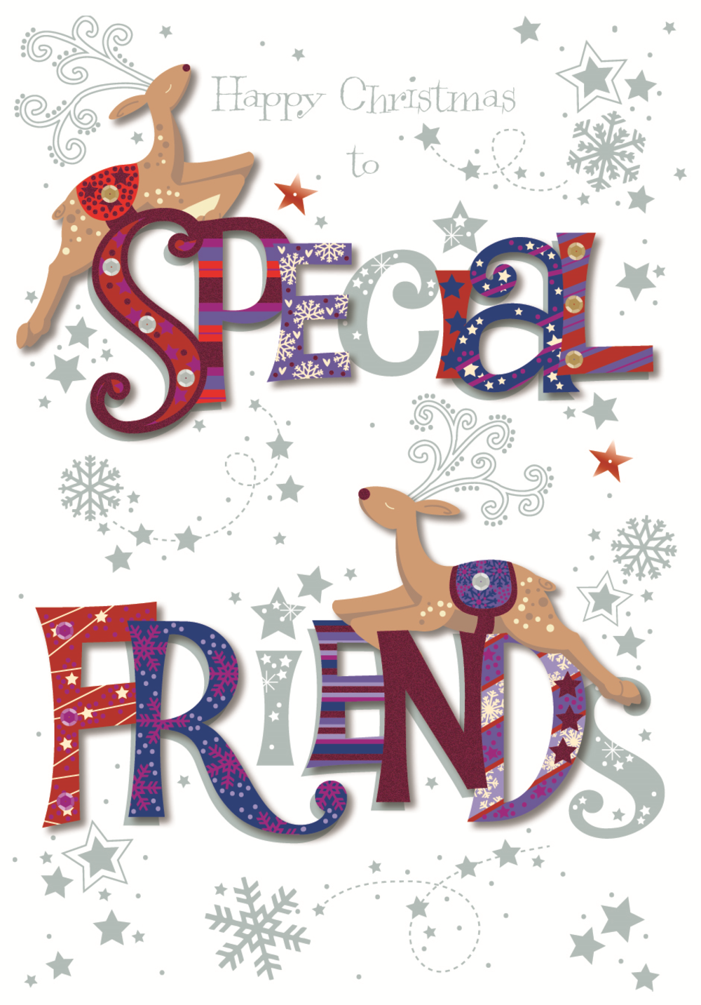 Special Friends Happy Christmas Greeting Card