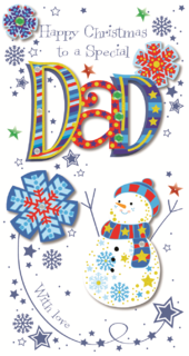 Special Dad Happy Christmas Greeting Card