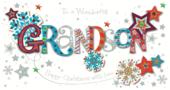 Wonderful Grandson Happy Christmas Greeting Card