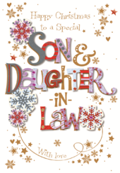 Son & Daughter-In-Law Christmas Greeting Card