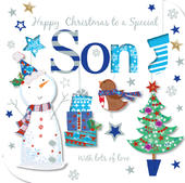 Special Son Happy Christmas Greeting Card