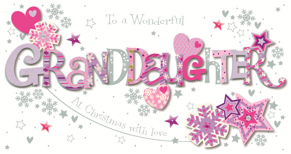 wonderful granddaughter happy christmas greeting card