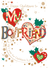 To My Boyfriend Christmas Greeting Card