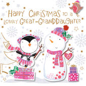 Great-Granddaughter Happy Christmas Greeting Card