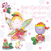 Wonderful Mummy Happy Christmas Greeting Card