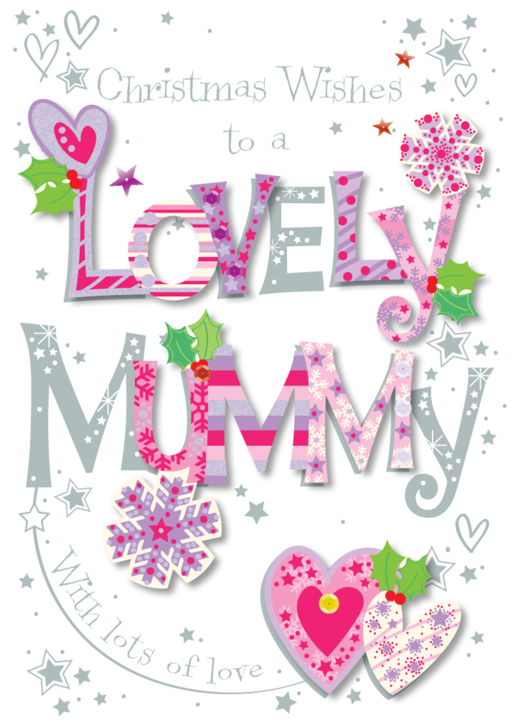 Lovely Mummy Happy Christmas Greeting Card