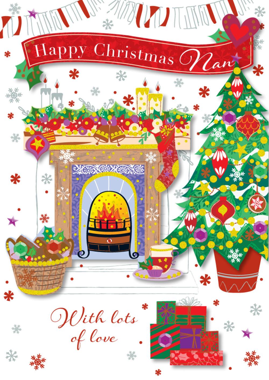 Nan Happy Christmas Greeting Card